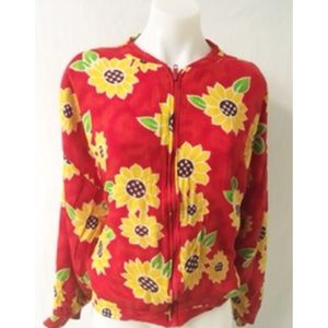 Yellow /Red Vintage Jacket Size Large